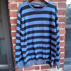Volcom Sweater Blue Striped XL